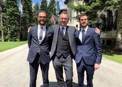 Simon Buchta, Günter Fuhrmann und Zoltan Balo